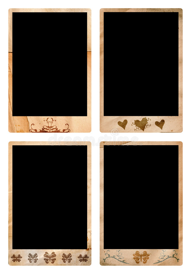 Grunge picture frames royalty free stock photo