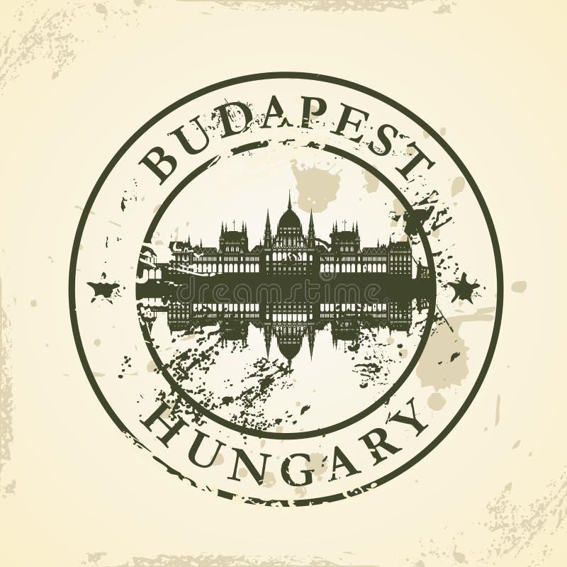 Grunge pieczątka z Budapest, Węgry royalty ilustracja