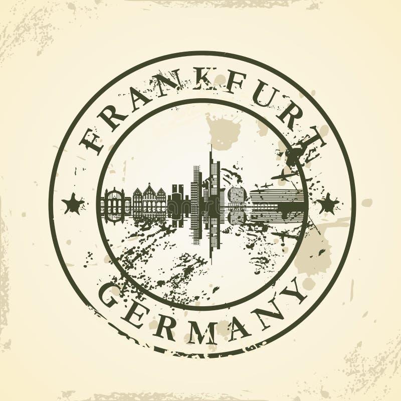 Grunge pieczątka z Frankfurt, Niemcy royalty ilustracja