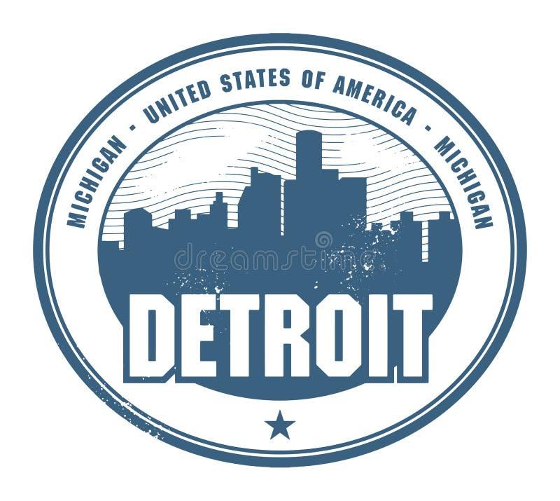 Grunge pieczątka z imieniem Michigan, Detroit ilustracja wektor