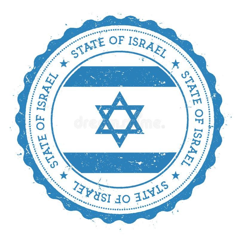 Grunge pieczątka z Izrael flaga ilustracji