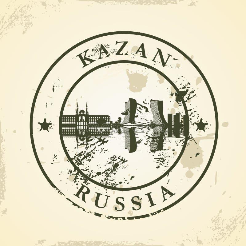 Grunge pieczątka z Kazan, Rosja ilustracja wektor