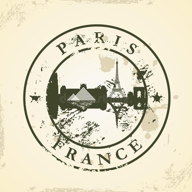 Grunge pieczątka z Paryż, Francja royalty ilustracja