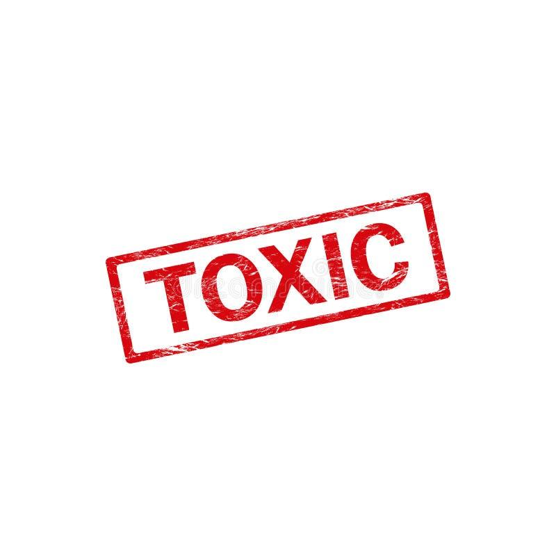 Grunge pieczątka z słowo substancją toksyczną wśrodku, wektor royalty ilustracja