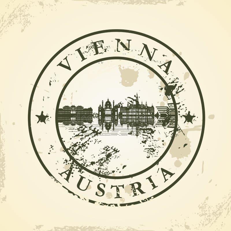 Grunge pieczątka z Wiedeń, Austria ilustracja wektor