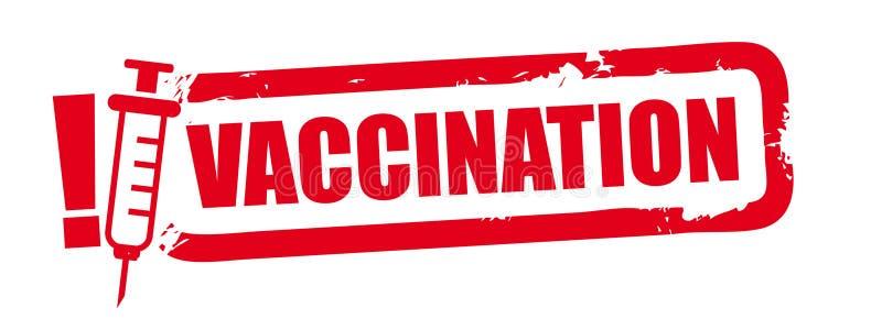 Grunge pieczątki szczepienia pojęcie ilustracja wektor