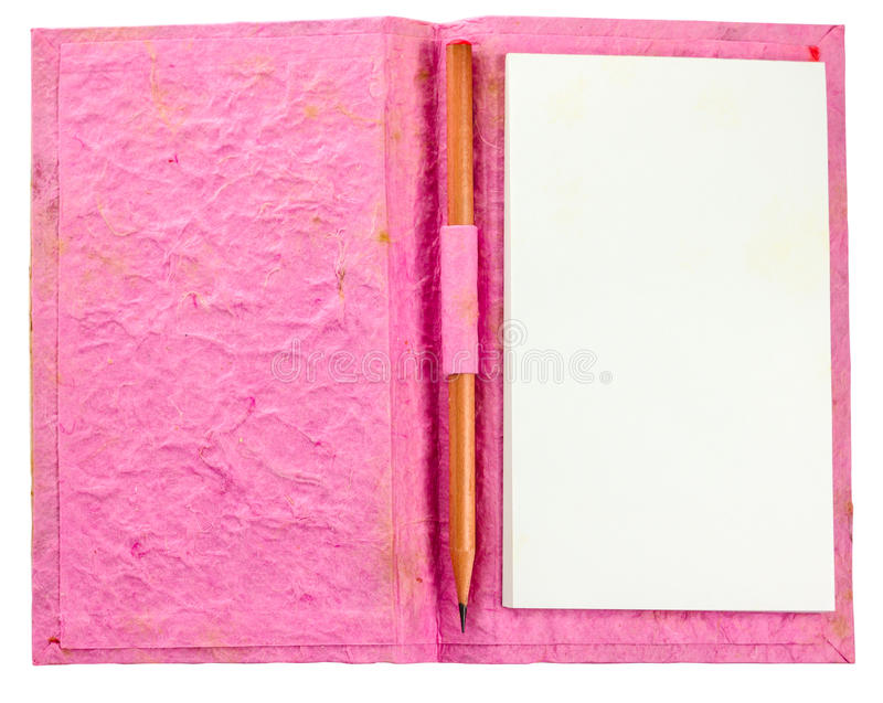 Grunge Pink Notebook Royalty Free Stock Photography