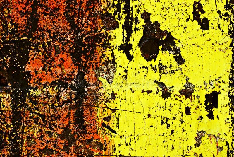 Grunge pintó la pared de ladrillo stock de ilustración
