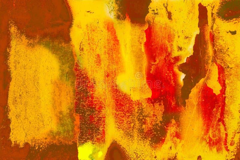 Grunge pintou a parede ilustração do vetor