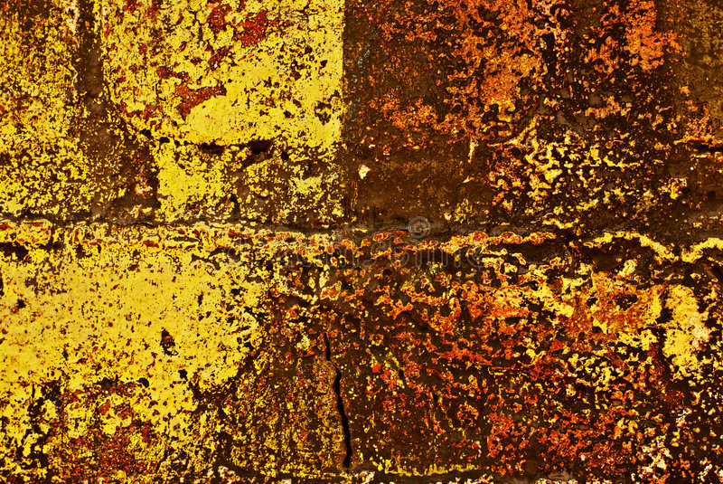 Grunge pintou a parede de tijolo ilustração do vetor