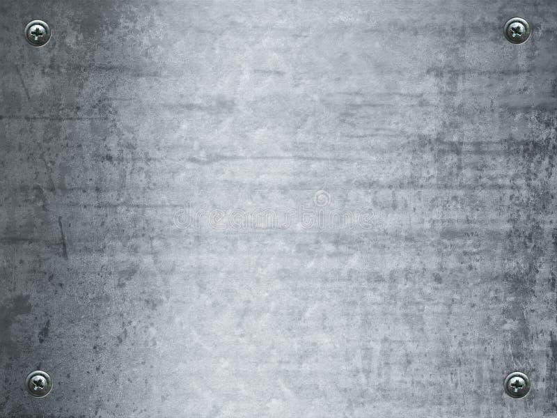 Grunge plateado de metal stock de ilustración