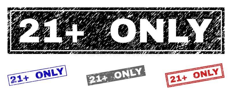 Grunge 21 plus SLECHTS de Geweven Verbindingen van de Rechthoekzegel stock illustratie