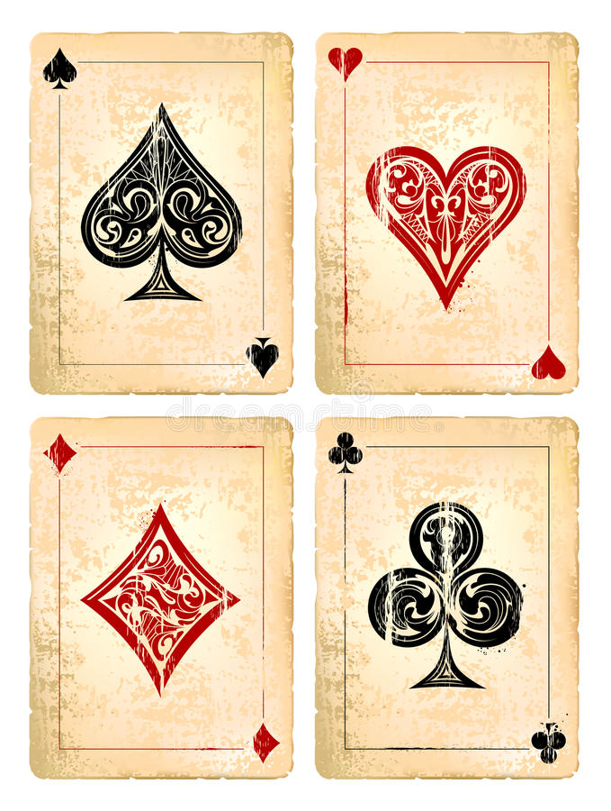 Free Grunge Poker Cards Stock Photography - 35287652