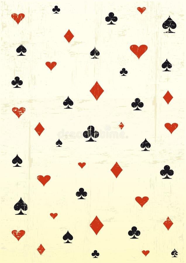 Grunge poker wallpaper royalty free illustration