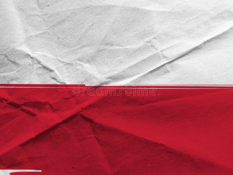 Grunge POLAND flag royalty free stock photo