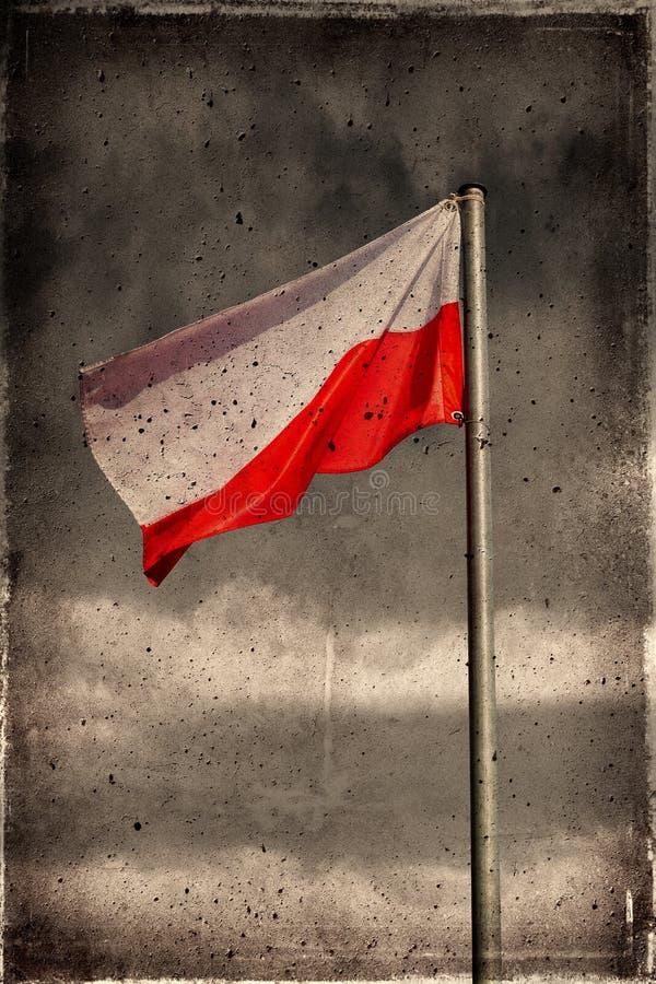 Grunge Poland flag stock image