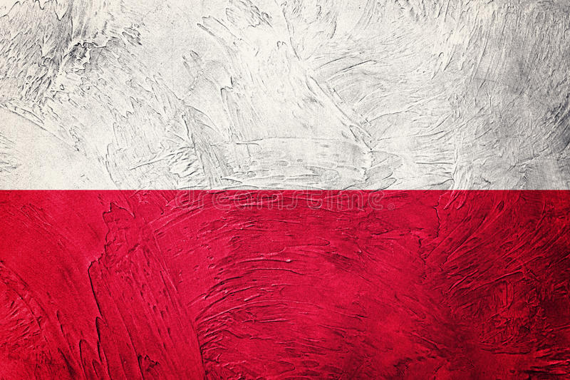 Grunge Poland flag. Poland flag with grunge texture. royalty free stock images