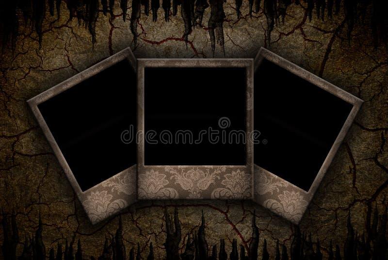 Grunge Polaroid lizenzfreie stockbilder