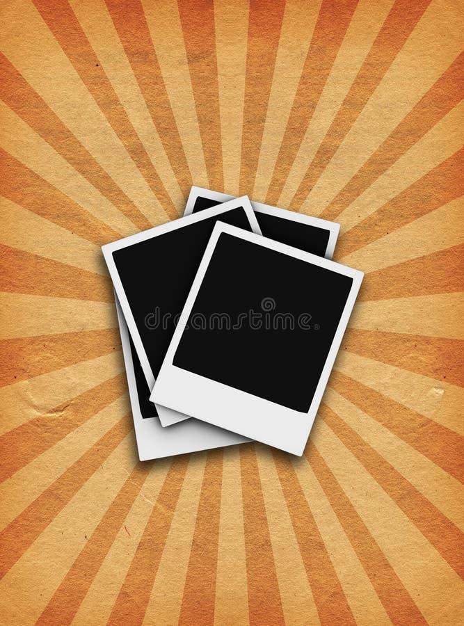 Grunge Polaroide stock abbildung