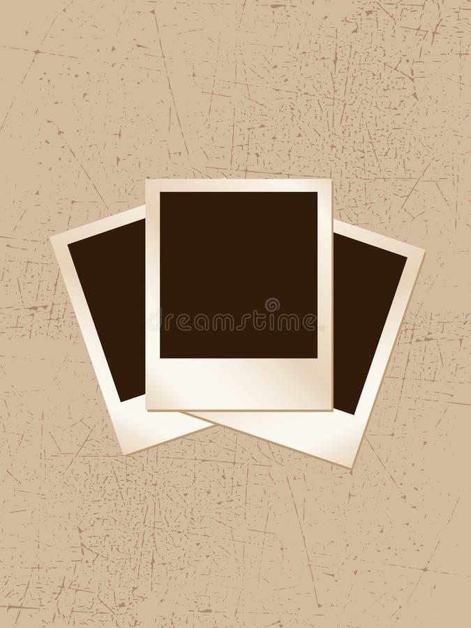 grunge polaroids απεικόνιση αποθεμάτων