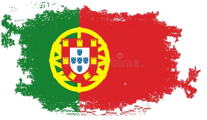 Grunge portugal flag stock illustration