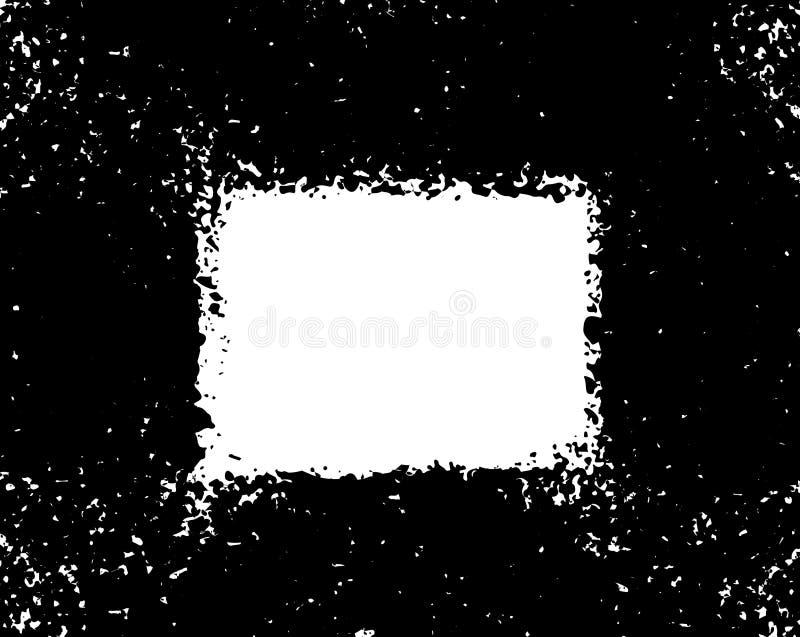 Grunge poster. Modern design with spray black ink splash brushes ink droplets blots. Black splash on white background. Vector illu. Stration grunge frame with vector illustration