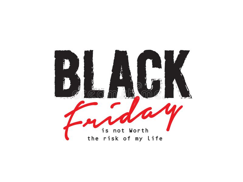 Grunge preto das citações do logotipo de sexta-feira ilustração stock