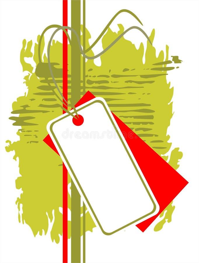 Grunge price tag royalty free illustration