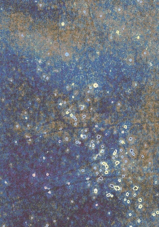 Grunge print Blue royalty free stock image