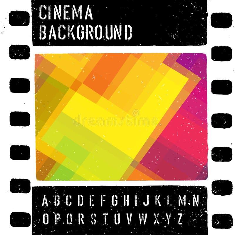Grunge projekta kolorowy kinowy szablon ilustracji