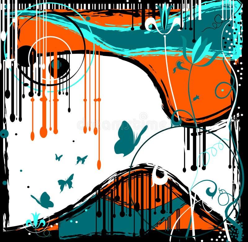 grunge projektu abstrakcyjne royalty ilustracja