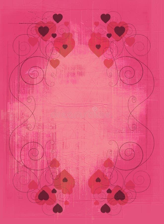 grunge projektu serca różowy ilustracji