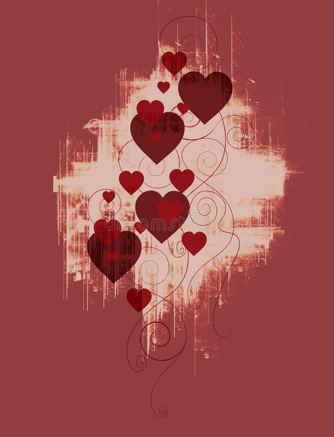 grunge projektu serce ii ilustracji