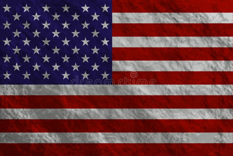 Grunge projektująca flaga royalty ilustracja