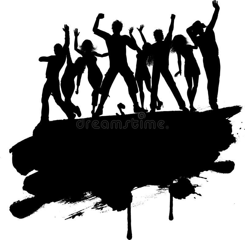Grunge przyjęcia ludzie ilustracja wektor