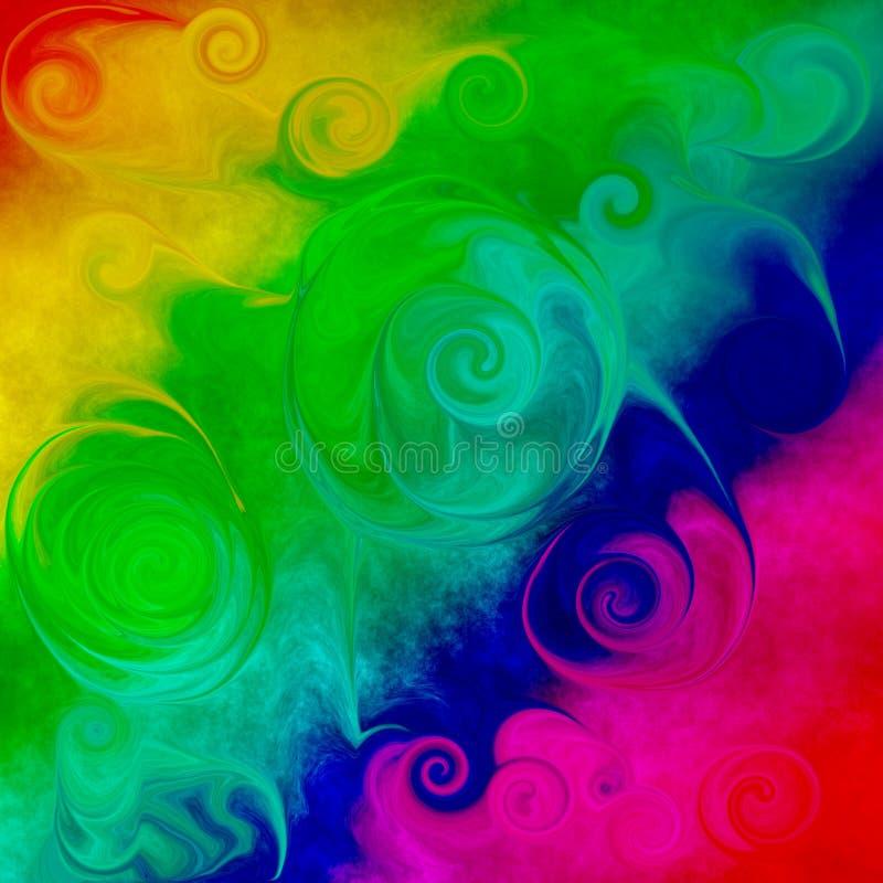 Grunge Psychedelic Spiralized Tile royalty free illustration