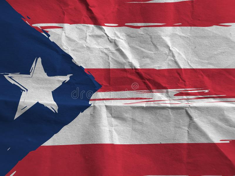 Grunge PUERTO RICO flag. Or banner royalty free stock photo