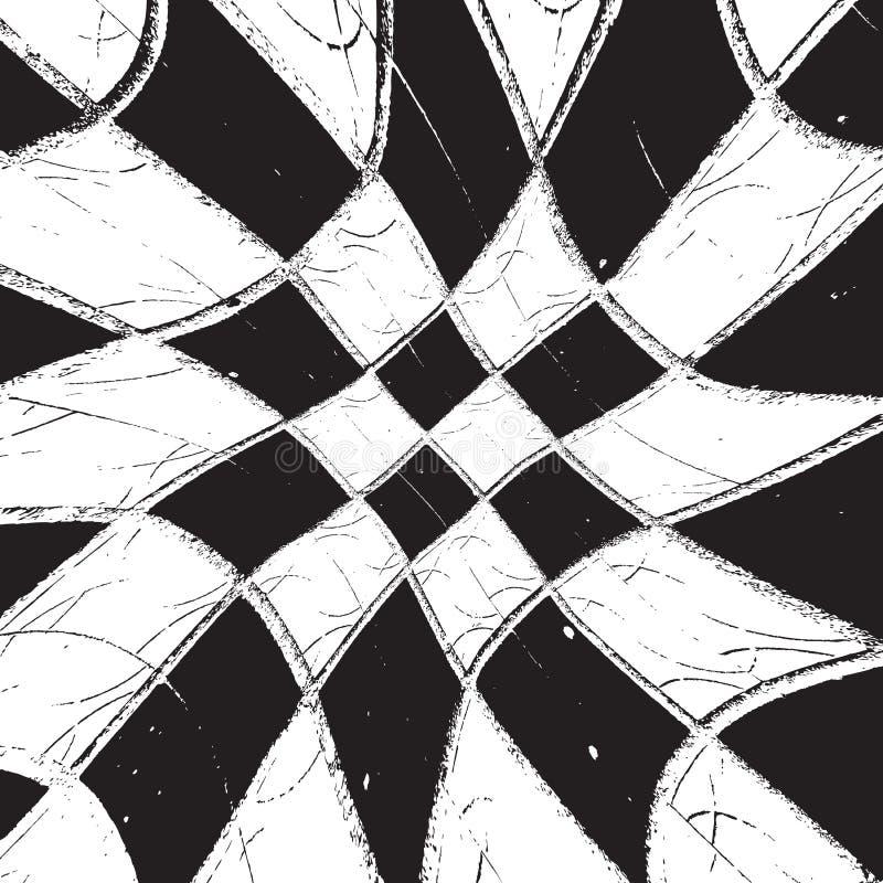 Grunge quadriculado de Diagonale da textura ilustração stock