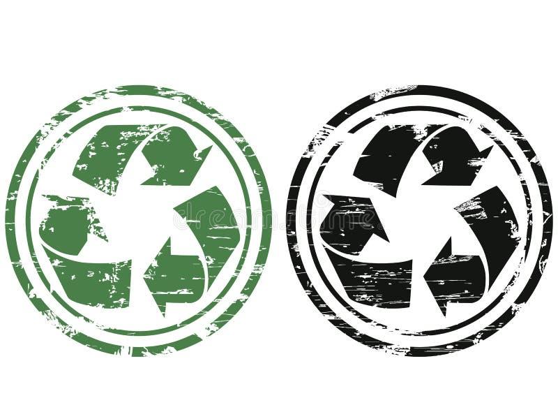 Grunge que recicla el sello ilustración del vector