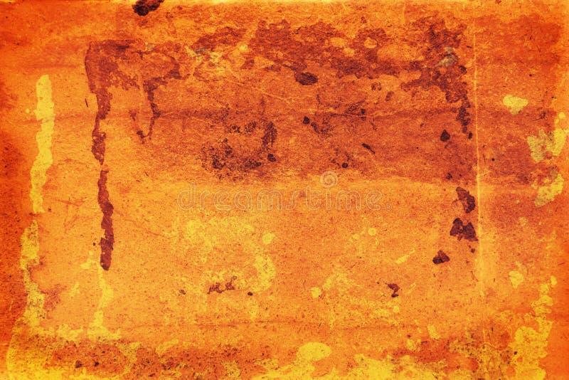 Grunge réchauffez la feuille fanée photo libre de droits