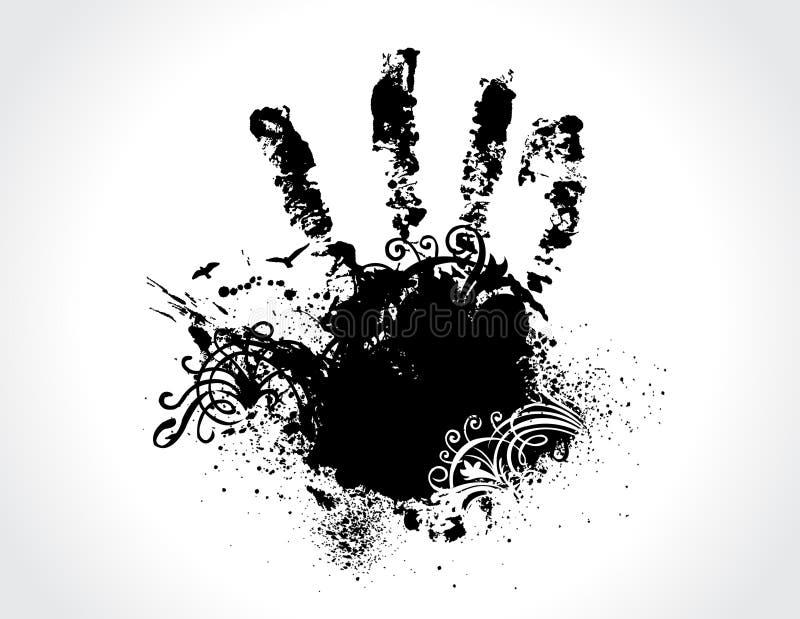 grunge ręka ilustracja wektor
