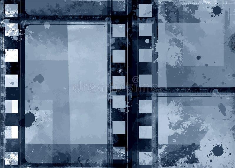 Grunge rama - ampuły Zakłopotana tekstura Dekoracyjny Wektorowy rocznik Wietrzejąca granica Wielki Grunge tło Deco Lub Retro proj royalty ilustracja