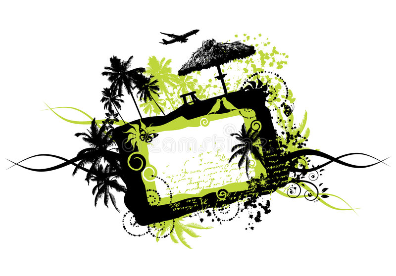 grunge ramowi wakacje royalty ilustracja