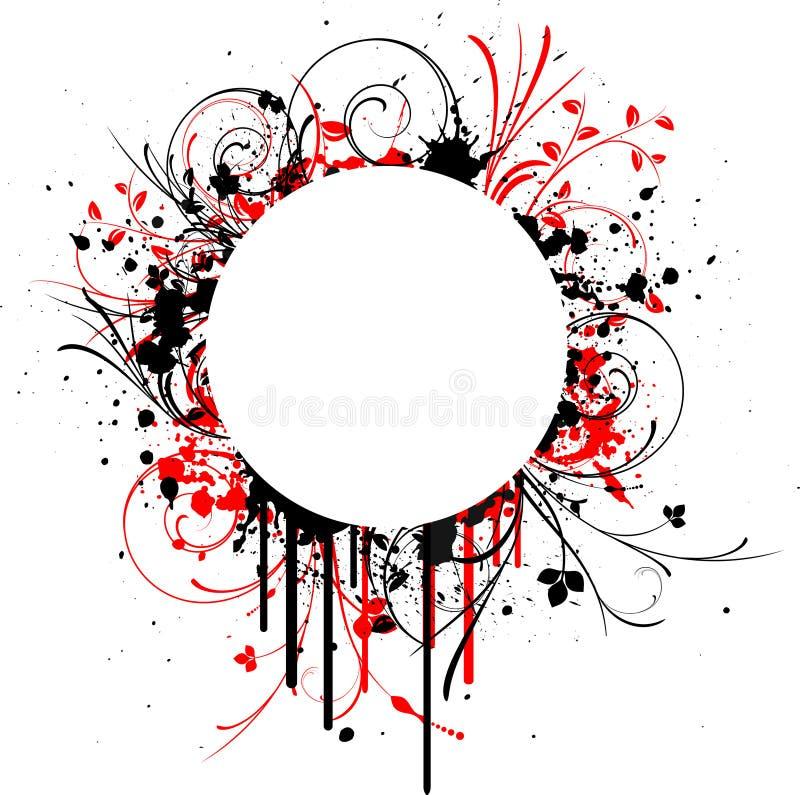 grunge ramowy dekoracyjny royalty ilustracja