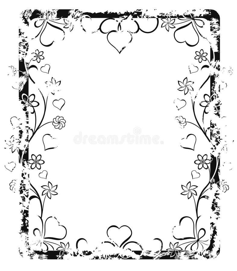 grunge ramowy walentynki royalty ilustracja