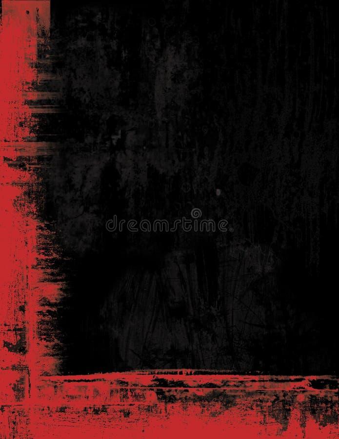 Grunge Randfeld-Hintergrundbeschaffenheit - Rot und b lizenzfreies stockfoto