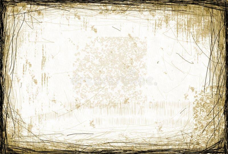 Grunge rasguñó el fondo stock de ilustración