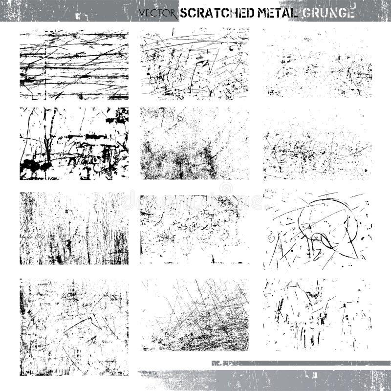 Grunge rasguñado vector del metal libre illustration