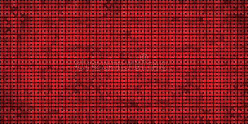 Grunge Red Mosaic Abstract Background Stock Vector