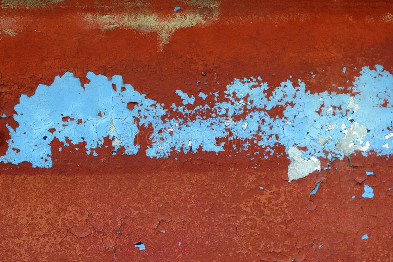 Grunge red and blue aged wall texture background stock photo